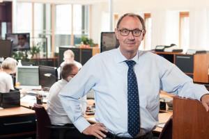 Ordførende bankdirektør Andreas Rasmussen, Nørresundby Bank fejrer tirsdag den 1. juli 50 års jubilæum. (Foto til fri afbenyttelse)