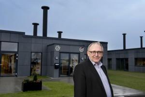 Direktør  Svend Aage Linde er overordentligt tilfreds med Scandi Bygs etablering af dee store nye Eurofins-laboratorium.