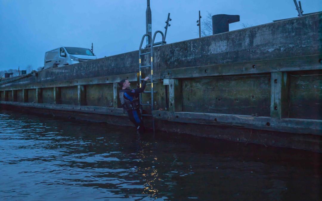 Belyste redningsstiger redder menneskeliv i landets havne